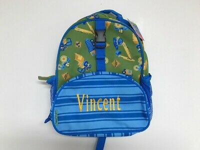 Personalized Stephen Joseph All Over Print Small Construction Backpack