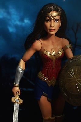 "Wonder Woman Gal 11.5"" custom repaint figure ooak collectors from Mattel doll"