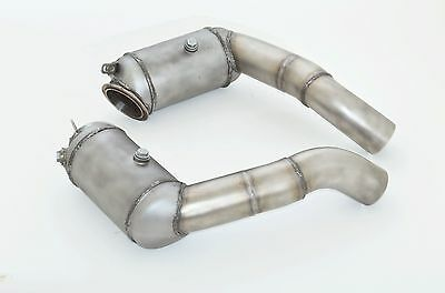 Nil 2.99in Downpipe Set with 200 Cell HJS Sports Catalytic Converter BMW M5 F10