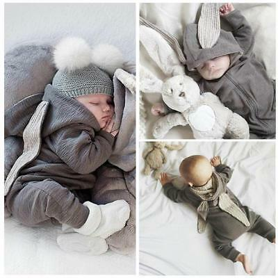 Clothes BB Cutest Warm Bunny Rompers For Newborn Infant Baby Girl Boy