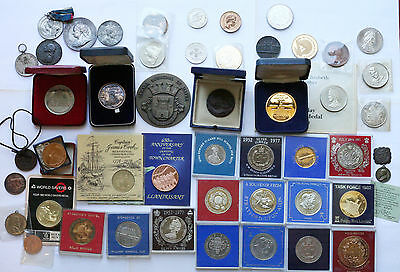 Large Lot of Medals, Medallions, Token