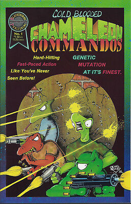 COLD BLOODED CHAMELEON COMMANDOS #1  Aug 86