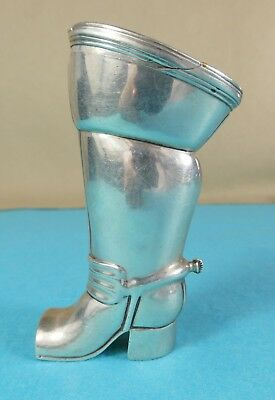 Rare Georgian Sterling Silver Novelty Snuff Box Horse Riding Boot Spurs 1795