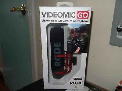 BRAND NEW Rode VideoMic Go Lightweight On-Camera No-Battery Required Microphone