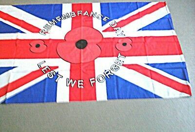 rememberance day armed forces poppy flag