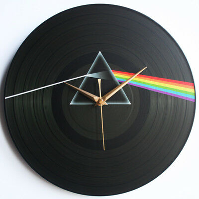"Pink Floyd - The Dark Side of the Moon (1973) - 12"" Vinyl Record Clock"