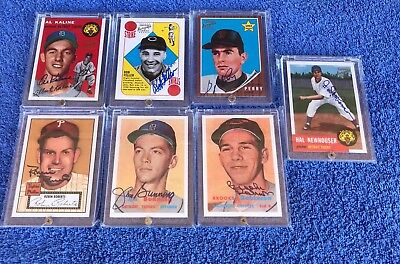 (7) 1997 Topps Stars Rookie Reprint On Card Autograph Auto Lot HOF