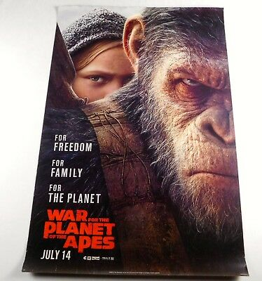 War for the Planet Of The Apes Official Movie Theater Poster Original 27x40 2017