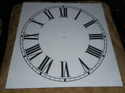 "Large Paper Clock Dial - 11"" M/T - Roman - White Matt - Face / Clock Parts"