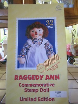 BRAND NEW NRFB Raggedy Ann Commemorative Stamp Doll Limited Edition 1997