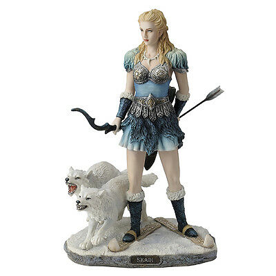 skadi- norse goddess of winter, hunt and mountains home decor statue figure