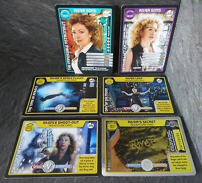 Dr Who 6 x RIVER SONG Cards - River Leap 323, River's Secret 317, River Song 110