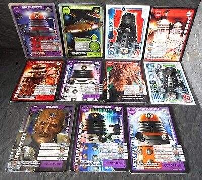 Dr Who 11x DALEKS Cards - Davros, Saucer, Sec, Stone, Supreme, Scientist + more