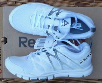 "Reebok ""Yourflex Trainette Sc"" Womens White Lite Cool Mesh Athletic Shoes New"