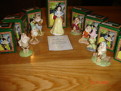 Royal Doulton  Limited Edition  Snow White And The Seven Dwarfs   Bnib  England