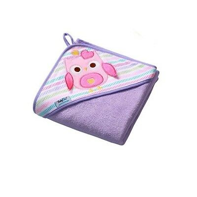 Extra LARGE 100x100cm (39.4x39.4in) SOFT Terry Hooded Baby Bath Towel, Violet