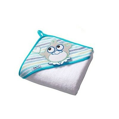 Extra LARGE 100x100cm (39.4x39.4in) SOFT Terry Hooded Baby Bath Towel, White