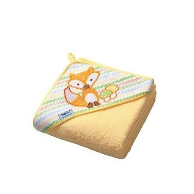 Extra LARGE 100x100cm (39.4x39.4in) SOFT Terry Hooded Baby Bath Towel, Yellow