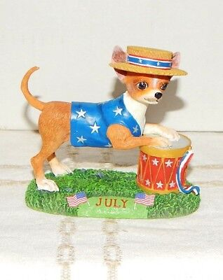 Danbury Mint Chihuahua July Christmas Ornament