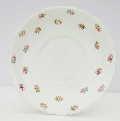 Vintage Tuscan China Ditsy Floral Rosebud Cake Plate