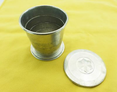 Collapsible Fred Harvey Aluminium Camping Cup 30-50s Vintage , USA