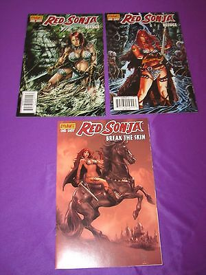 Red Sonja One-Shot Lot Deluge & Break the Skin 1st Print Dynamite VF 3 Comics