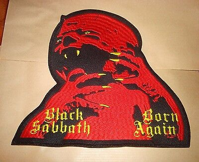 BLACK SABBATH - BORN AGAIN LOGO Embroidered LARGE BACK PATCH