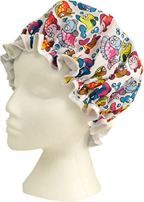 Vagabond Bags Luxury Shower Cap Fish or Multi Coloured Star Design BN