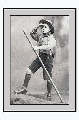 PHOTO TAKEN FROM A 1930's IMAGE OF TYPICAL PRE WAR SCOUT UNIFORM