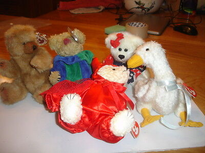 Ty Retired Attic Bears  Jointed  New Devlin, Cody, Georgette, Franny Picadilly