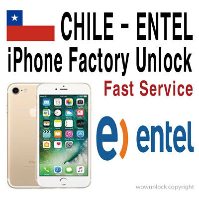 aa09fa87769 FACTORY UNLOCK ENTEL CHILE / CLARO Chile iPhone7+ 7 SE 6S+ 6S 6+ 6 ...