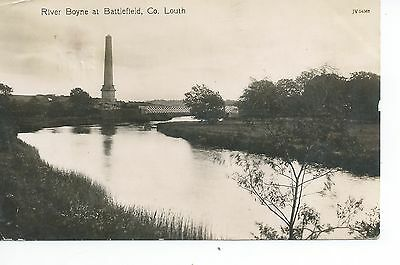 Real Photo postcard of the river Boyne at Battlefield, County Louth Ireland vgc