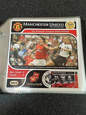 Official Manchester United Fa Premier League Victory Cards Collection 2001-2002