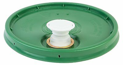 Hudson Exchange Premium Bucket Lid with Spout and Gasket, 5 Gallon, Green