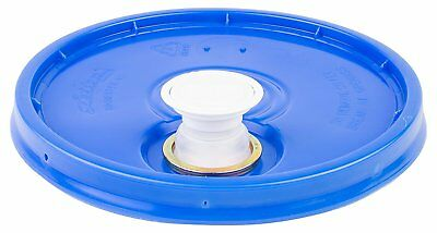 Hudson Exchange Premium Bucket Lid with Spout and Gasket, 5 Gallon, Blue