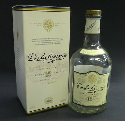 DALWHINNIE 15 Y.O. SCOTCH BOX & BOTTLE (empty)