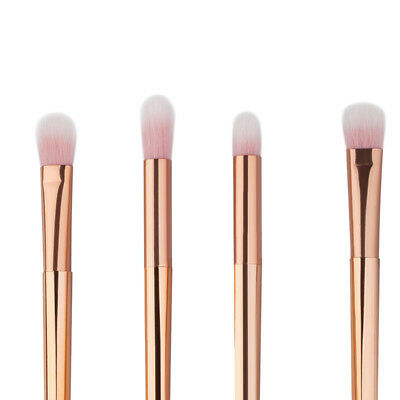 4 pieces rose gold eyes makeup brushes set blending brush eyeshadow cosmetic