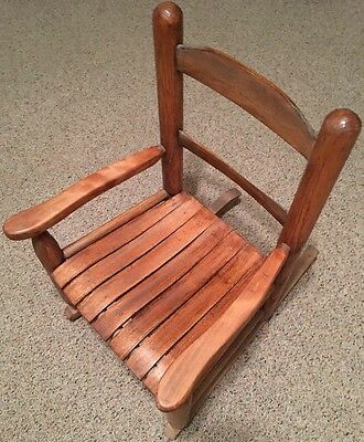 Handcrafted Vintage Child's Wood Rocking Chair