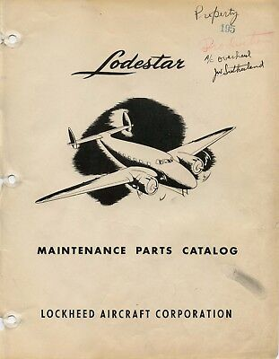 Lockheed Lodestar Maintenance Parts Catalog