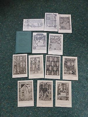 Postcards 12 pictorial; Illuminated Mss. Bodleian Library . Unposted