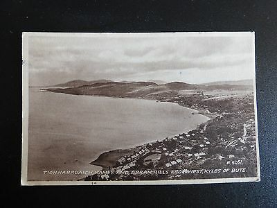 Valentine's Postcard: Tighnabruaich, Kames & Arran Hills from Bute, Scotland