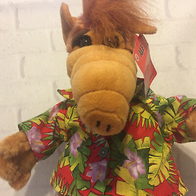"Alf Stuffed Plush Nanco  18"" Hawaiian Shirt Original Tags Wildflower"