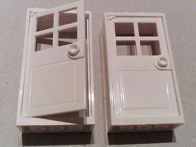 """LEGO 2 White Doors with Frames 2x4x6 """"NEW"""""""