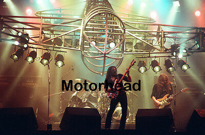 "12""*8"" concert photo of Motorhead playing at Port Vale in 1981"