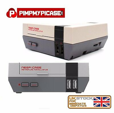 Raspberry Pi NES NesPi Retroflag Case for Raspberry Pi 2/3 Retropie UK STOCK