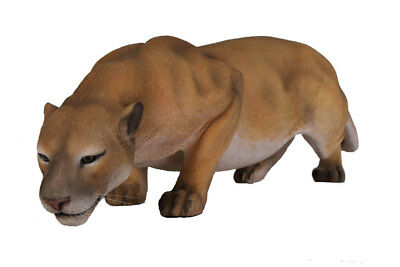 Cougar Crouching Statue Wild Cat Animal Prop Display Decor