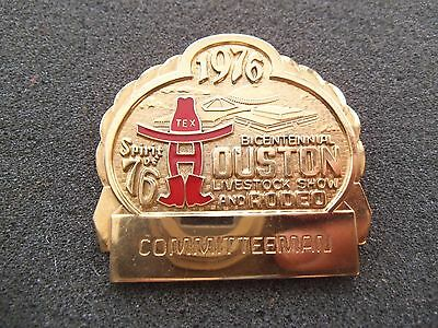 Committeeman Badge 1976 Houston Livestock Show & Rodeo HLSR Texas Pin