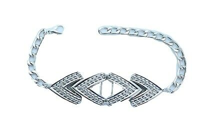 Women Gold Metal Chain Boot Bracelet Anklet Shoe Mesh Band Zig Zag Charm Jewelry