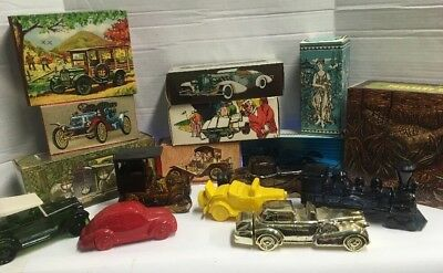 AVON VINTAGE COLLECTIBLE CAR BOTTLES MENS COLOGNE/AFTER SHAVE 2 lOT OF 16