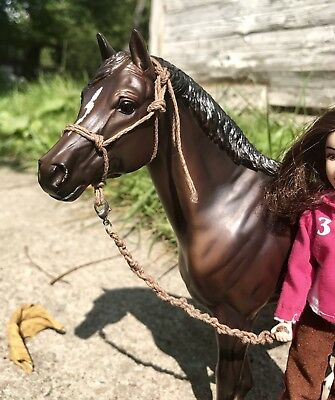 Traditional Sized Model Horse Rope Halter & Lead